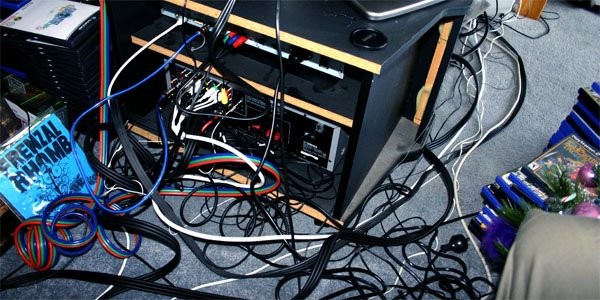 jumble of cables